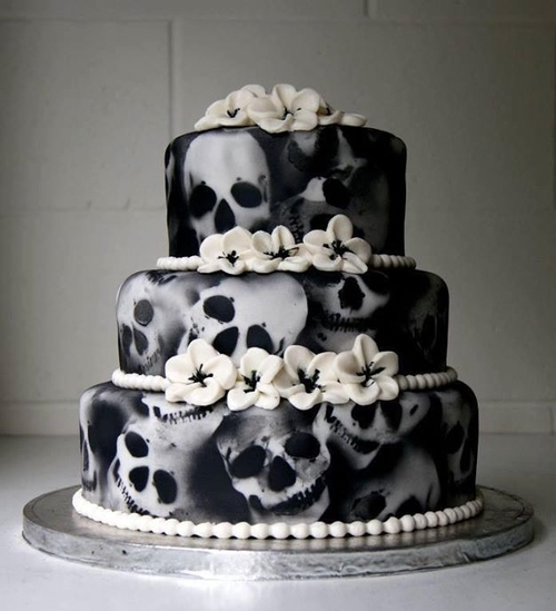 Skull Cakes (cake Ideas For A Gothic Wedding, Yule/Winter
